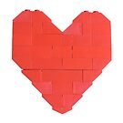 LEGO Valentine - White, Upright  by thereeljames