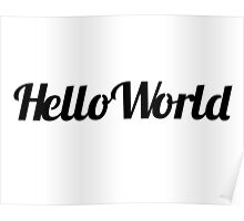 Hello World Contour Drawing Poster