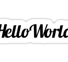 Hello World Contour Drawing Sticker