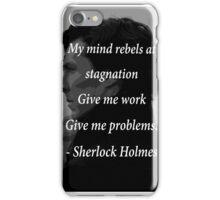 Sherlock Benedict Cumberbatch Quote iPhone Case/Skin