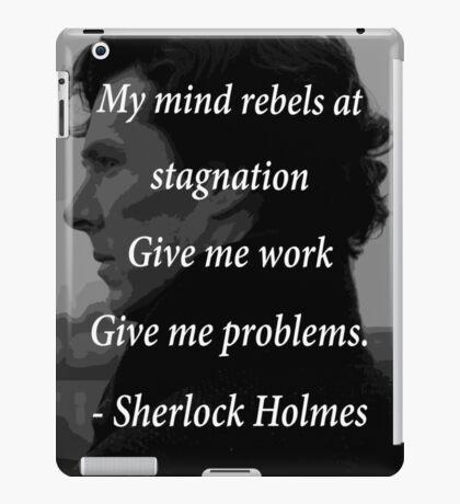 Sherlock Benedict Cumberbatch Quote iPad Case/Skin