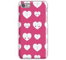 Pink Valentines Heart Pattern iPhone Case/Skin