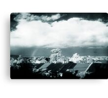 little plane and rainbow over enmore Canvas Print