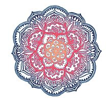 Radiant Medallion Doodle Photographic Print