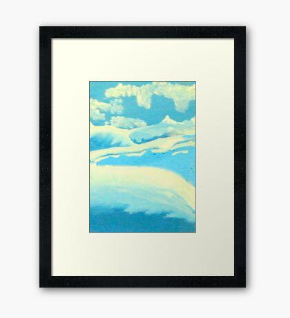 Blue Landscape - Rhian B Framed Print