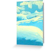 Blue Landscape - Rhian B Greeting Card