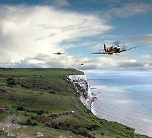 Spitfires Over Dover  by J Biggadike
