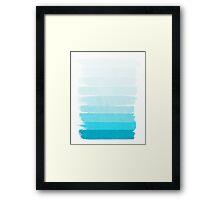 Isla - Ombre Brushstroke, blue, ocean, pattern, water, sunny beach cell phone Framed Print