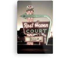 Route 66. Rest Haven Court Motel. Springfield. (Alan Copson ©) Metal Print