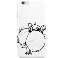 The Hamster is a wild punk rocker iPhone Case/Skin