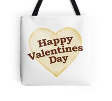 Heart Shaped Happy Valentine Day Text Design Tote Bag