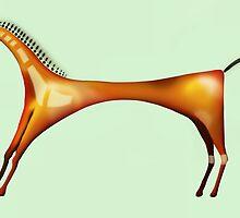 Horse inspired by Blackfoot Tipi Art by AAR EMM