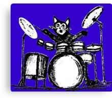 Drummer Cat Canvas Print