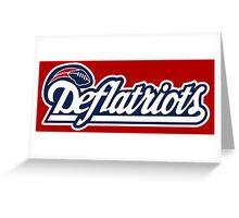 DEFLATRIOTS - DEFLATEGATE - New England Patriots  Greeting Card