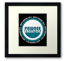 Pawnee-Eagleton unity concert 2014 (Ron's hoodie) Framed Print