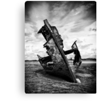 Decayed, neglected and left to rot Canvas Print