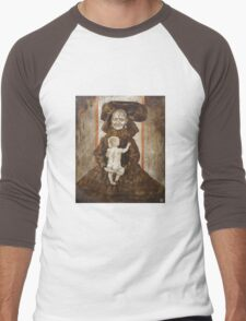 The old woman with the baby Men's Baseball ¾ T-Shirt