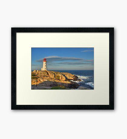 Peggy's Cove Lighthouse - Nova Scotia, Canada Framed Print
