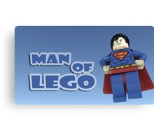 Man of Lego Canvas Print