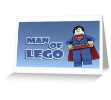 Man of Lego Greeting Card