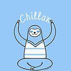 Minimalist Chillax Sloth  by Zoe Lathey