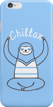 Minimalist Chillax Sloth  by zoel