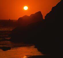SeaSide SunSet on the SeaShore - photography by Paul Davenport