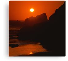 SeaSide SunSet on the SeaShore - photography Canvas Print