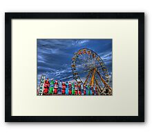 Wheel and Beverages Framed Print