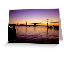 San Franisco  •  Oakland Bay Bridge Greeting Card