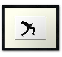 Freddie Mercury Silhouette  Framed Print
