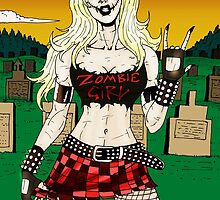 Horror Punk Zombie Girl by MetalheadMerch