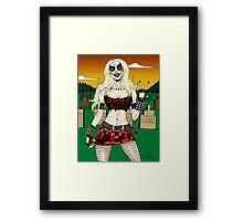 Horror Punk Zombie Girl Framed Print
