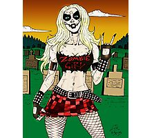 Horror Punk Zombie Girl Photographic Print