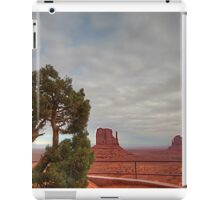 Monument Valley, Clouds, Juniper Tree iPad Case/Skin