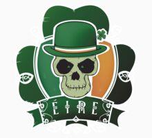 Irish lucky skull Baby Tee