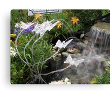 Sprinkle Lights as Pond Spitters  Canvas Print