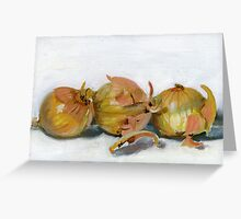 Three Onions Greeting Card
