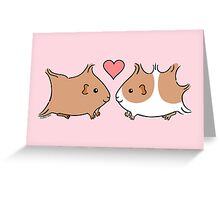 Guinea-pig Sweethearts Greeting Card