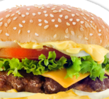 I love you more than hamburger! Sticker