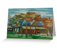 farm abstraction Greeting Card