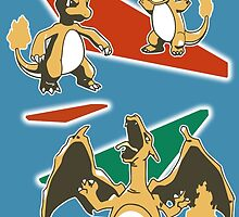 Charizard Line by DaftDesigns