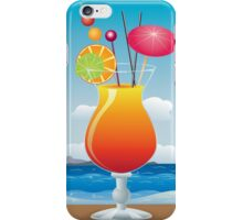Cocktail on the beach iPhone Case/Skin