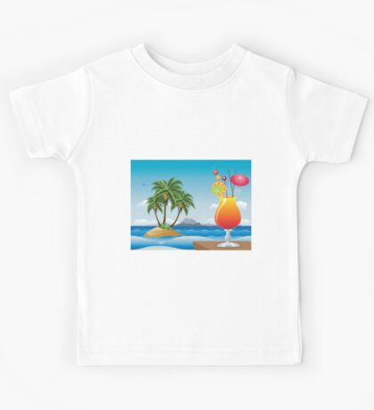 Cocktail on the beach Kids Tee