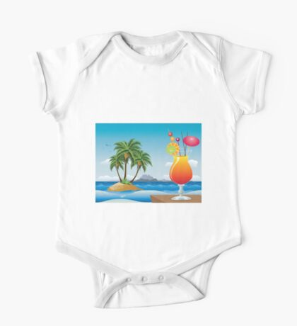 Cocktail on the beach One Piece - Short Sleeve