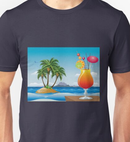 Cocktail on the beach Unisex T-Shirt