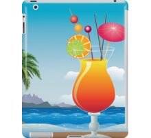 Cocktail on the beach iPad Case/Skin