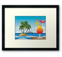 Cocktail on the beach Framed Print