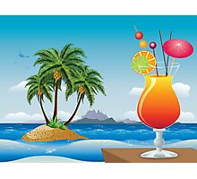 Cocktail on the beach Photographic Print