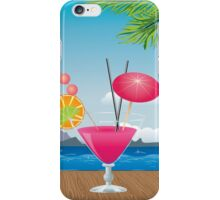 Cocktail on the beach 2 iPhone Case/Skin